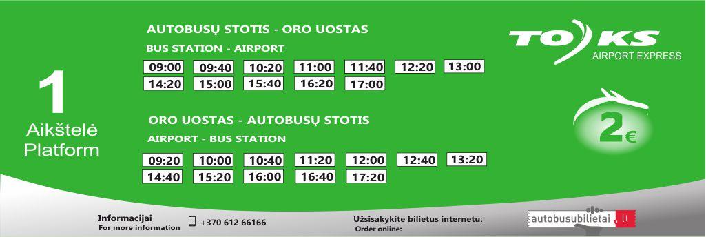 Airport Express tvarkaraštis